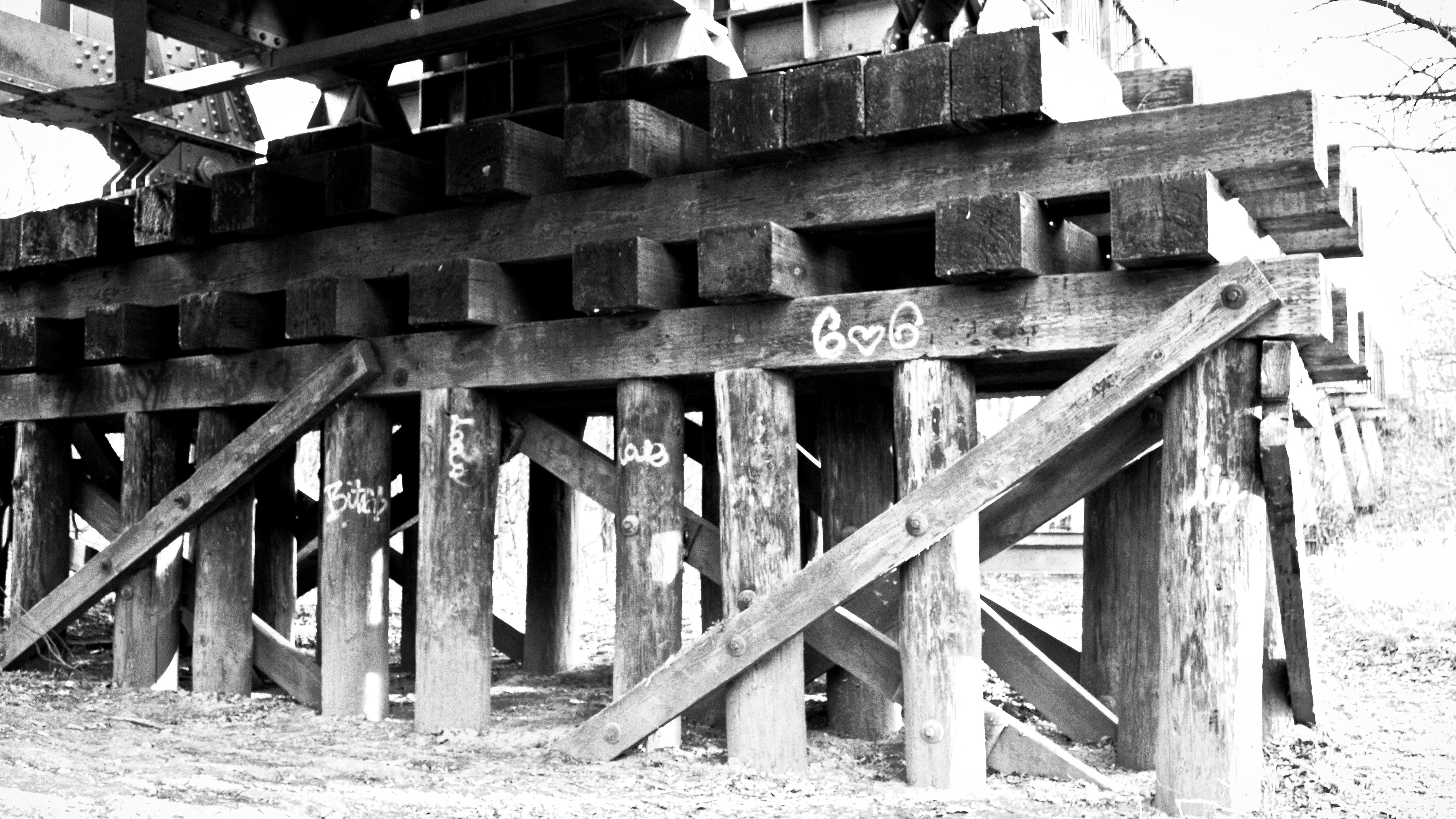 bridge pilings old style