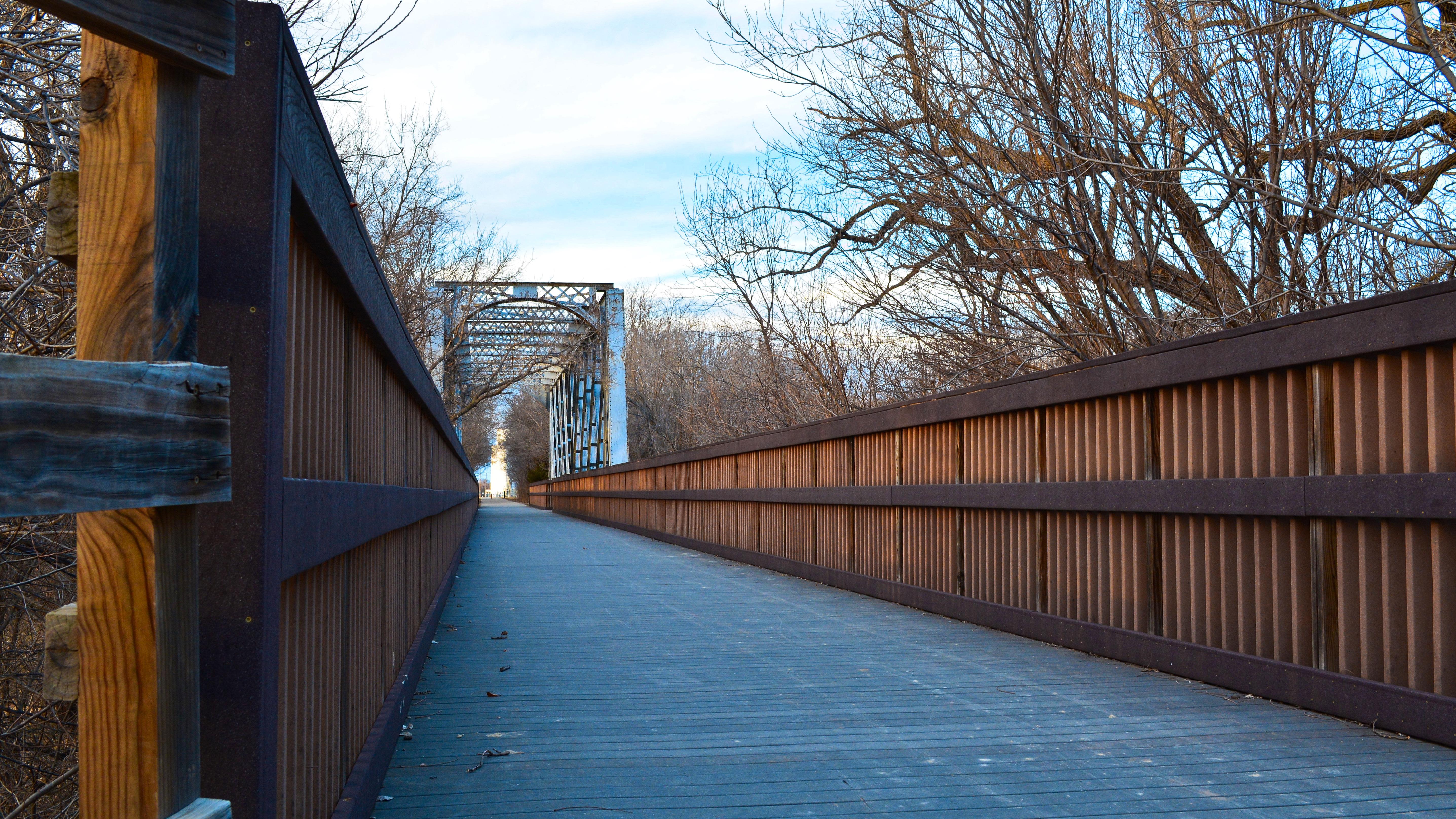 Walk the bridge blue skies